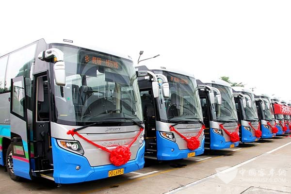 Higer Scania Touring Bus Takes the Lead in China's High-end Passenger Transportation Market