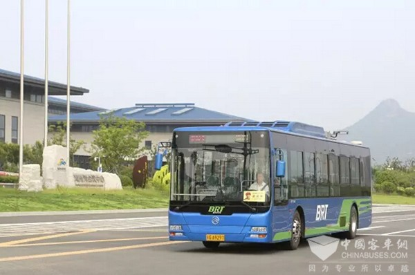 Golden Dragon Electric Buses on New Energy Bus Routes