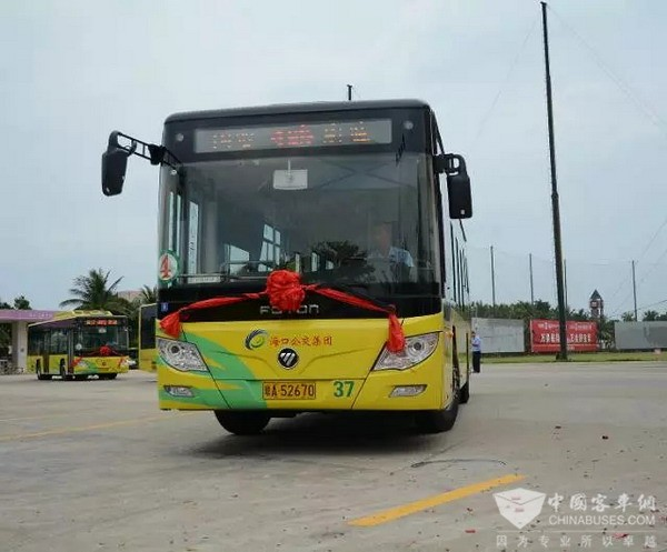 Foton AUV Green Buses Win Rising Popularity in Haikou