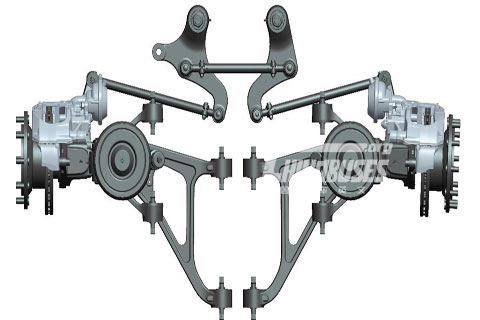 GK Low floor independent suspension front axle BFA 80I