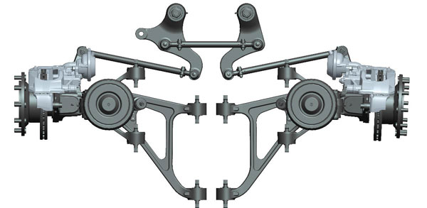 GK Low floor independent suspension front axle BFA 50I