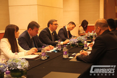 Serbian PM Aleksandar Vucic Meets with HIGER's General Manager Huang Shuping