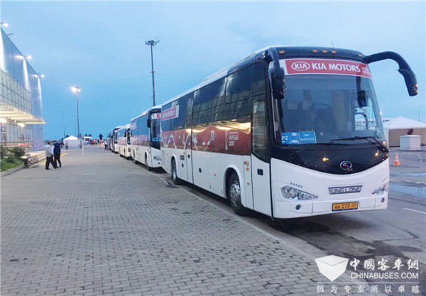 King Long buses in Russia