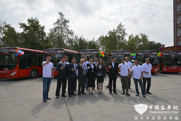 Zhongtong buses in Russia