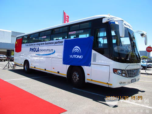 Yutong buses in South Africa