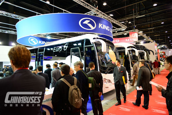 King Long holds delivery ceremony for the 40,000th export vehicle at Busworld in 2013