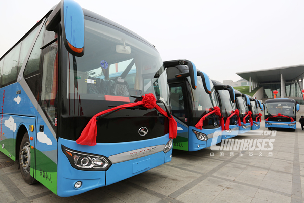 King Long Delivers 75 Coaches to Ulan Muqir Troupes