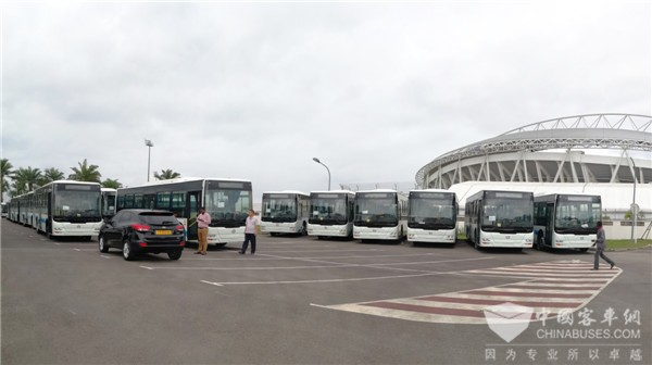 300-plus Units Golden Dragon Buses Arrive in Gabon