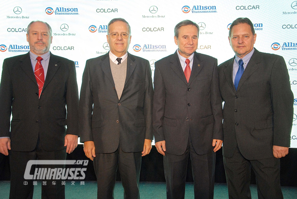 New Mercedes-Benz Front-engine Bus with an Allison Fully Automatic Transmission is Unveiled in Argentina
