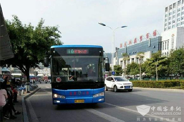 200 Units Golden Dragon Electric Buses to Start Operation in Longyan
