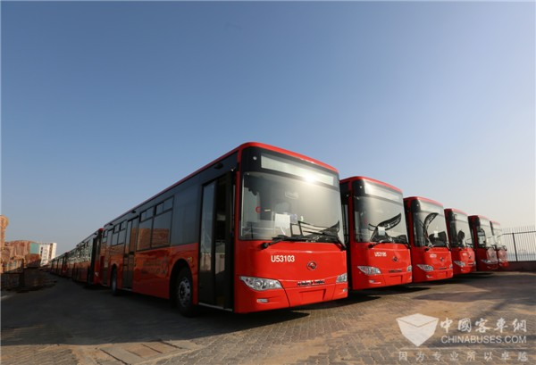 "King Long Exports 150 Luxurious ""Chinese Red"" Buses to Saudi Arabia"