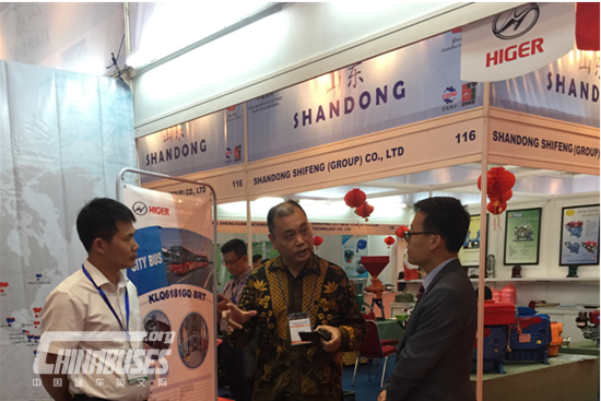 Higer Debuts at 2018 China Industrial Machinery And Electronic Products Exhibition (Indonesia)
