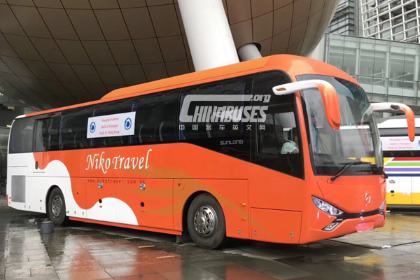 Sunlong SLK6116HKB Buses Equipped with Benz Chassis Start Operation in Hong Kong