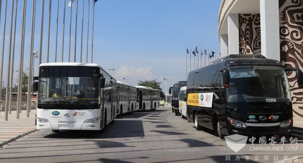 85 Units King Long Buses Serve APEC Summit in Papua New Guinea