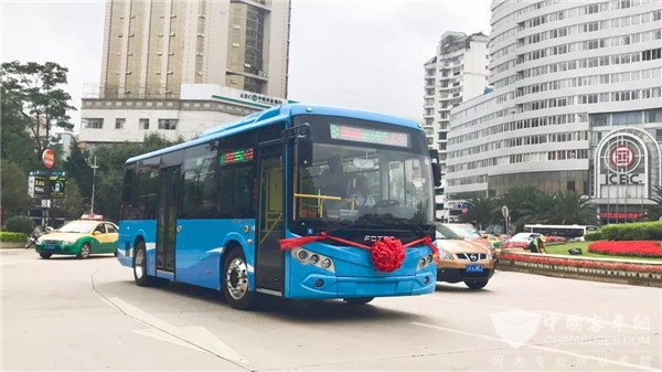 58 Units Foton AUV Electric Buses Delivered to Qujing for Operation