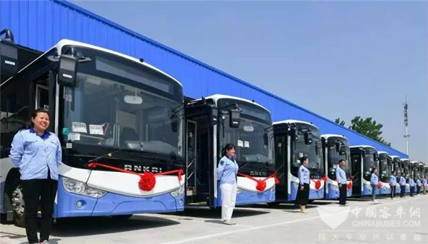 53 Units Ankai New Energy City Buses Start Operation in Hefei