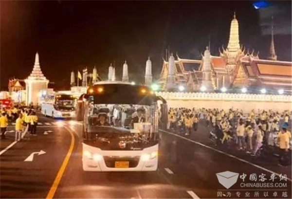 Zhongtong Buses Serve the Coronation Ceremonies for Thai King