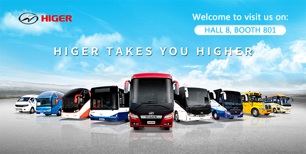 Welcome to Higer Booth in Busworld Brussels 2019