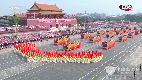 Foton AUV Buses Serve at the Military and Mass Parade on Tian'anmen Square