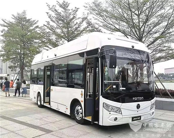 12 Foton AUV Fuel Cell City Buses Start Operation in Zhangjiakou