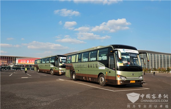 King Long Buses Serve CIIE in Shanghai