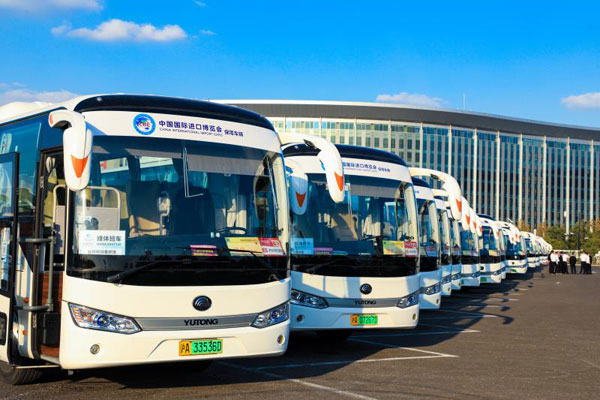 Yutong Buses Serve the China International Import Expo 2019