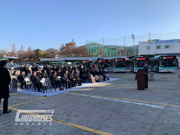 Higer Electric City Bus Delivered to South Korea Again