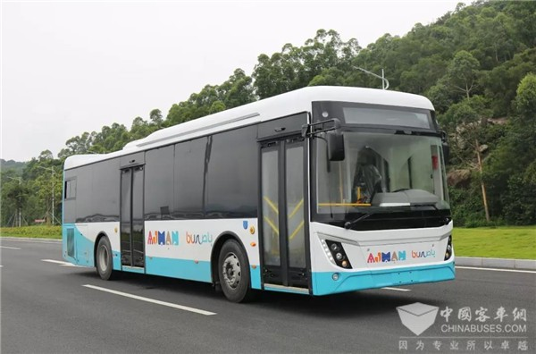Zhongxing Intelligent City Buses Delivered to UAE for Operation