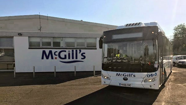 Scotland McGill Orders the First Electric Bus Yutong E12