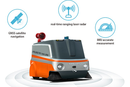 King Long Bus Apolong GOVO Autonomous Disinfecting Sweeper XMQW25BEVS