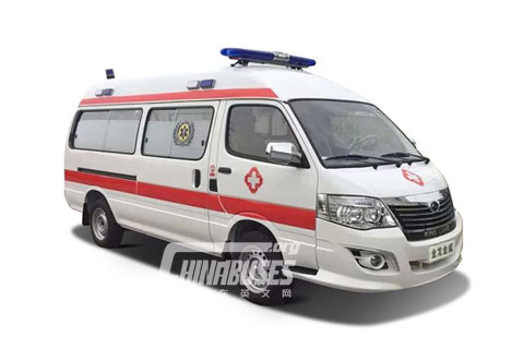 King Long Bus Kingwin Negative Pressure Ambulance+Xinchen V20 engine