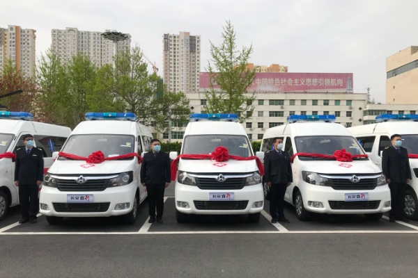 19 Units Changan Negative Pressure Ambulance Vehicles Delivered to Dingzhou for Operation