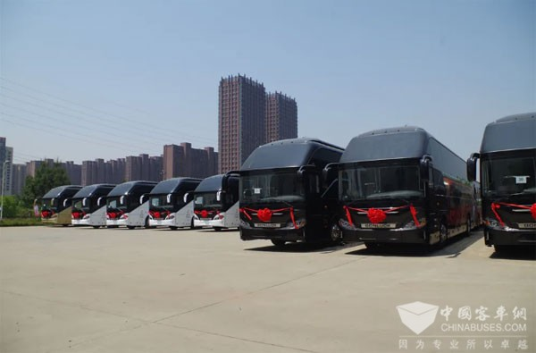 Bonluck Delivers 100 Units Buses to Saudi Arabia for Operation