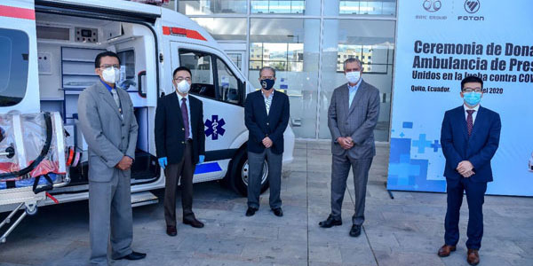 The First Foton Negative Pressure Ambulance Vehicle Arrive in Ecuador for Operation