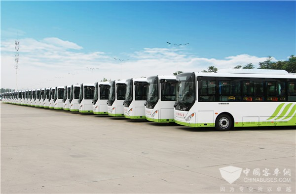 150 Units Zhongtong Electric Buses Arrive in Tangshan for Operation