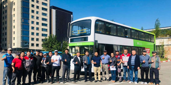 Skywell Electric Double-decker Buses Arrive in Ulan Bator for Operation