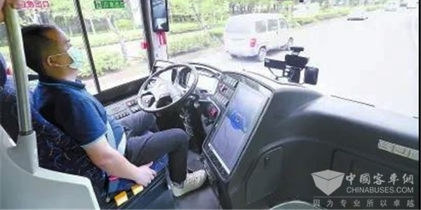 Sunlong Autonomous Driving Bus on Trial Operation on Open Road