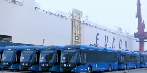 Yutong Exported 130 Dual-source Trolley Buses to Mexico