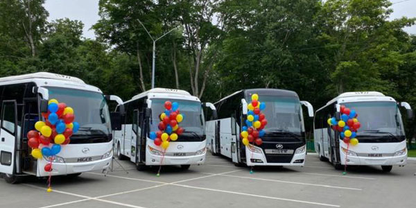 Higer Tourist Buses Delivered to Russia for Operation