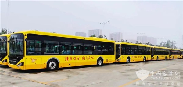 Zhongtong 12-meter N Series Electric City Buses Arrive in Jining for Operation