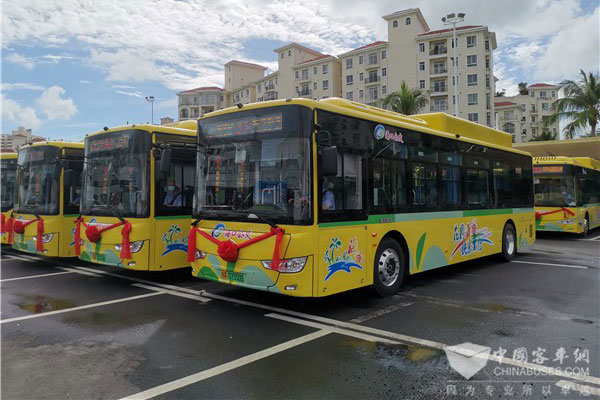 177 Units King Long Electric Buses Start Operation in Haikou