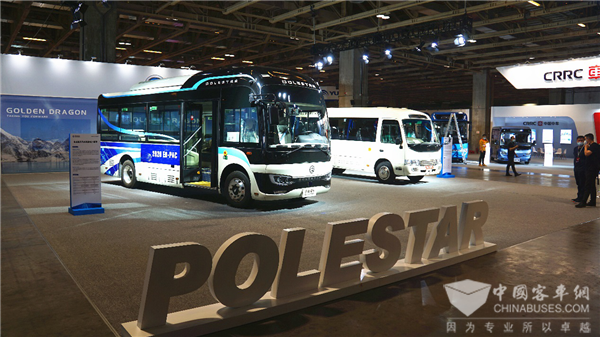 Golden Dragon's Polestar Bus Makes its Debut at Macao Auto Show