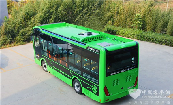 Zhongtong 8-meter New N Series City Buses Start Operation in Lvliang