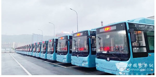 1,063 Units CRRC Electric Buses Arrive in Chongqing for Operation