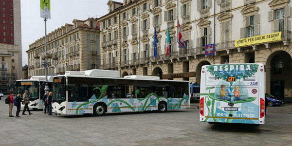 An Order of 100 Units Electric Buses from Turin Goes to BYD