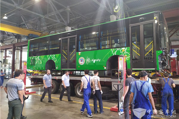 150 Units Golden Dragon 12-meter BRT Buses Shipped to Kazakhstan for Operation