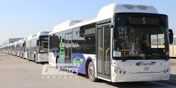 31 Units Higer CNG Buses Being Exported to Israel