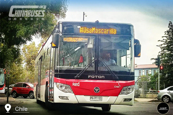 Foton AUV Buses in Chile