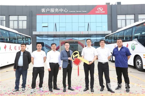 30 Units King Long Coaches Arrive in Tianjin for Operation