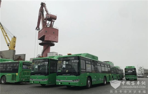 166 Units Cummins Engines Powered King Long Buses to Mexico for Operation